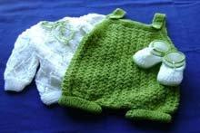 Ropa tejida para bebé