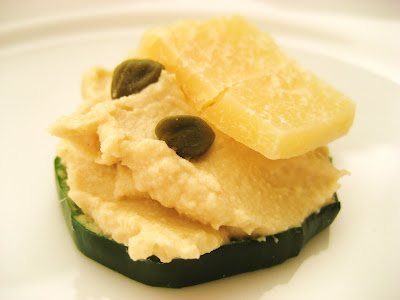 Treat a week recipes cucumber hummus canap s for Canape garnishes