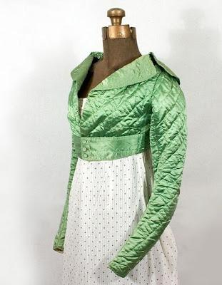 La moda en el siglo XIX 1800%2B1820%2Bapple%2Bgreen%2Bspencer%2Bjacket
