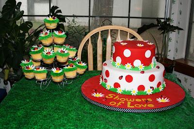 katie 39 s cakes ladybug baby shower cake
