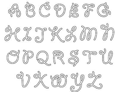 Moldes Do Alfabeto  Pleto Para Voc   Pintar O Nome Que Desejar