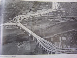 Looking down on the upgraded freeway bridge and the I-80N