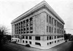 The Multnomah Co. Courthouse in 1920.  This one replaced the original building built in 1866.