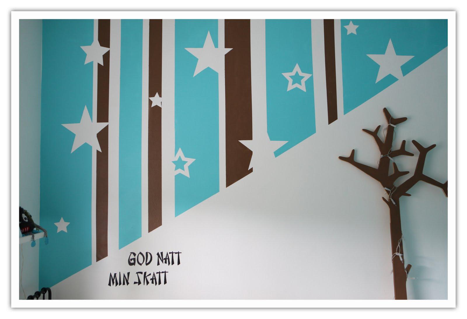 Tim Tiger: Barnrum : väggmålning barnrum : Barnrum