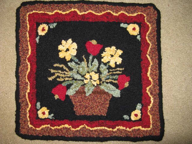 My Flower Basket Hooked Rug