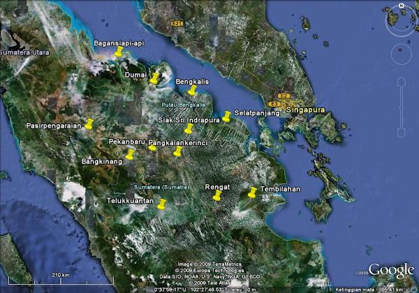 Peta Provinsi Riau, Peta Riau