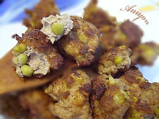 gourmet recipes - small pea meatballs