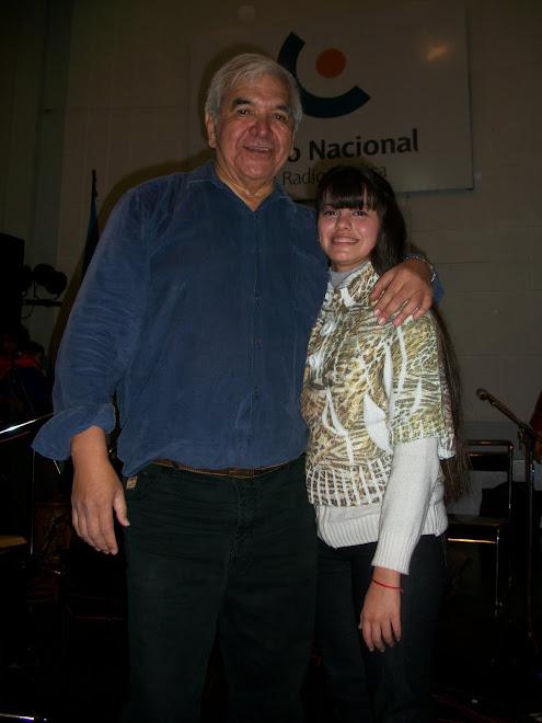 Antonella y el Sr. Juan Carlos Carabajal