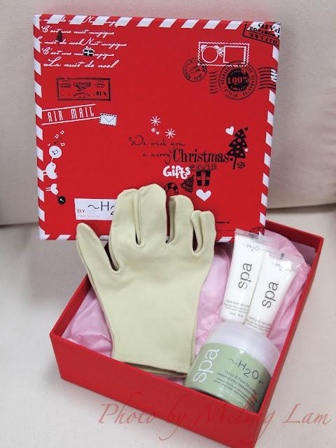 h2o plus hand cream set glove christmas gift