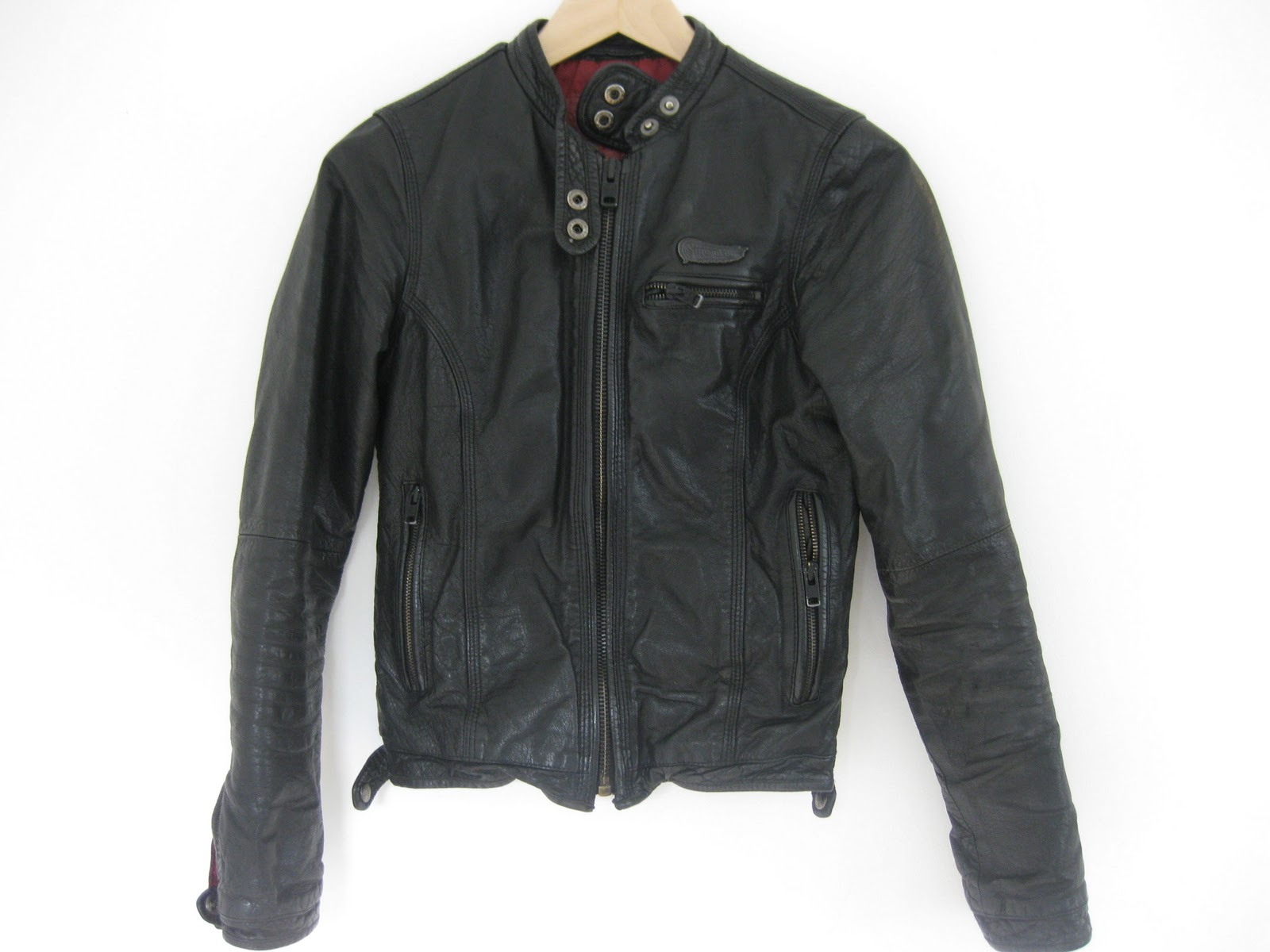 Classic leather moto jacket from Superdry