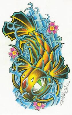 Koi Tattoo Design