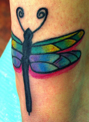Dragonfly Tattoo :  japanese wings dragonfly tribal