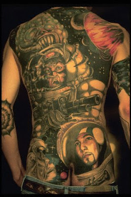 Outer Space Theme Tattoo On The Back Full