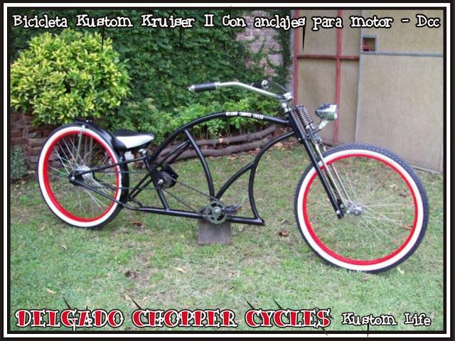 Bicicleta Kustom Kruiser II - Con anclajes para motor