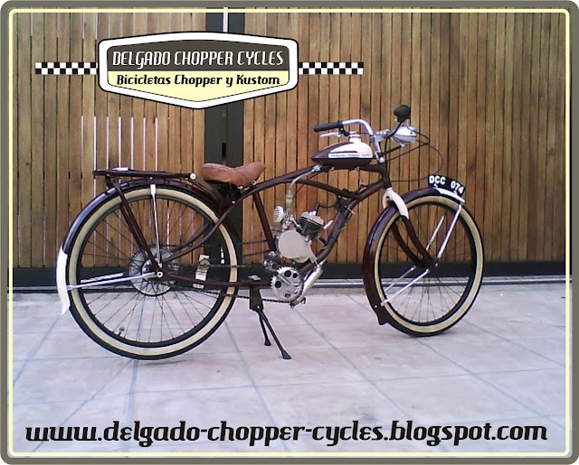 Bicicleta con motor estilo vintage(retro) DCC