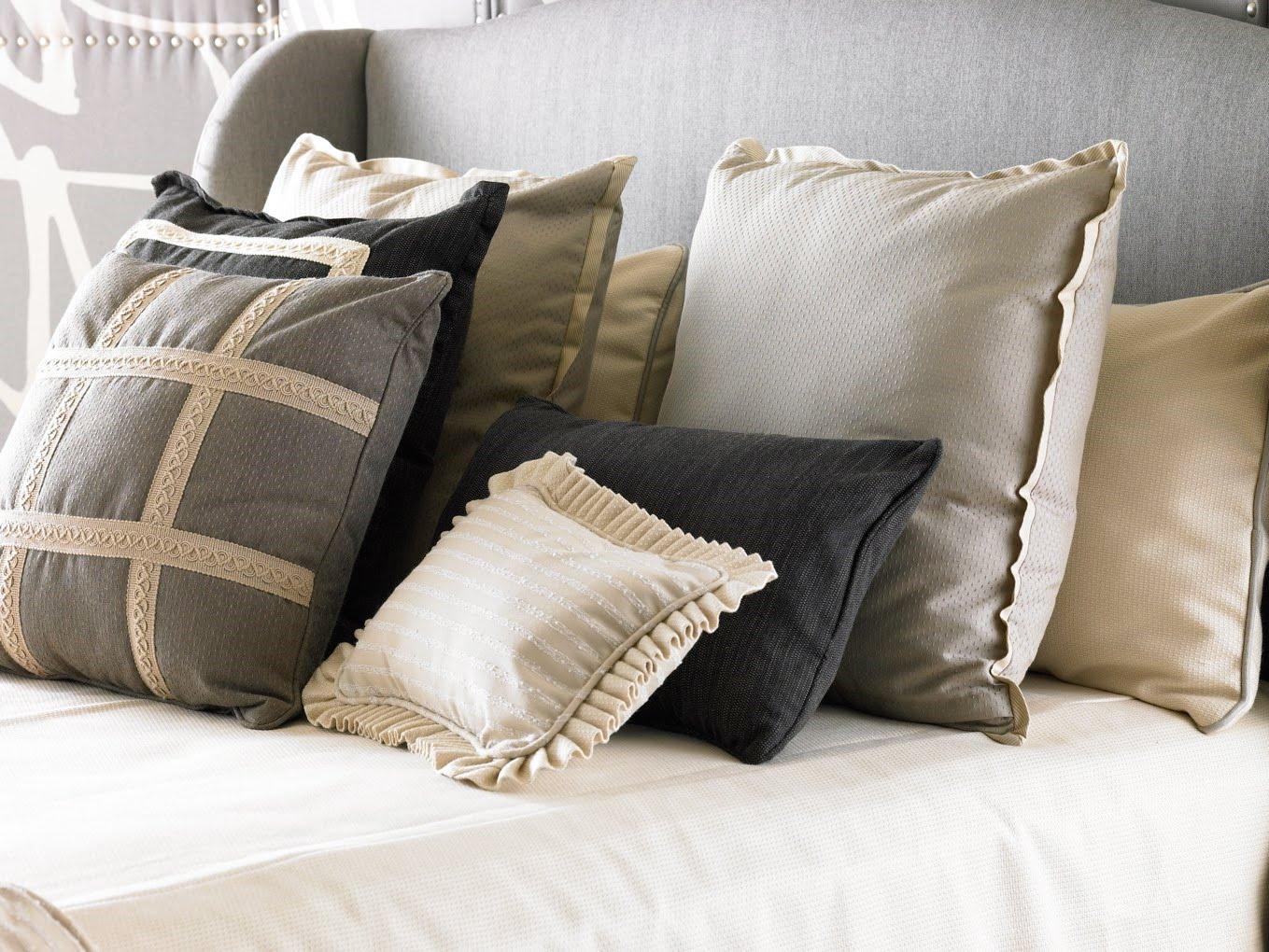 Designer Throw Pillows With Fringe Sofa Design