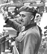 Franco saludando a los perdedores