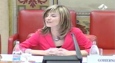 La miembra del gobierno en el congreso de diputados y diputadas