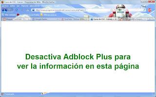 adblock plus bloqueado