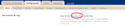 exportar blog en Blogger.