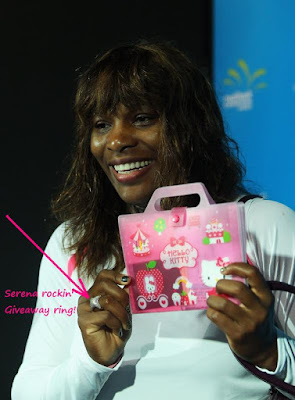 Black Tennis Pro's Serena Williams At Press Conference Wearing Serena Signature Collection Ring