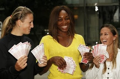 Black Tennis Pro's Venus Williams, Victoria Azarenka and Gisela Dulko 2010 Hong Kong Classic