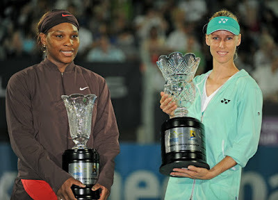 Black Tennis Pro's Serena Williams and Elena Dementieva Sydney International Final