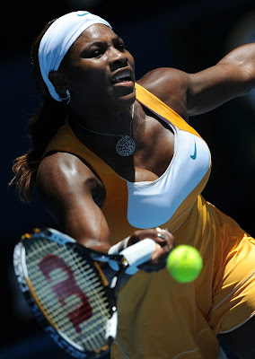 Black Tennis Pro's Serena Williams vs. Urszula Radwanska AO 2010