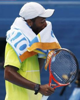 Black Tennis Pro's Donald Young vs Lleyton Hewitt 2010 Australian Open