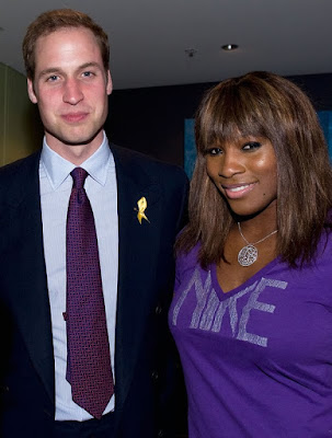 Black Tennis Pro's Prince William and Serena Williams at the Australian Open