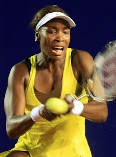 Black Tennis Pro's Venus Williams vs. Mathilde Johansson at 2010 Abierto Acapulco