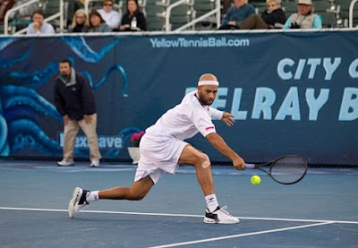 Black Tennis Pro's James Blake vs. Ivo Karlovic in Delray Beach