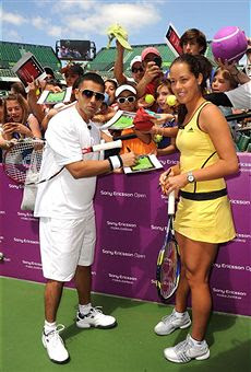 Black Tennis Pro's Sony Ericsson Open Glam.Set.Match - Jay Sean and Ana Ivanovic