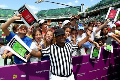 Black Tennis Pro's Sony Ericsson Open Glam.Set.Match - Benji B