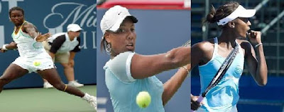 Black Tennis Pro's Jamea Jackson, Ahsha Rolle and Asia Muhammad