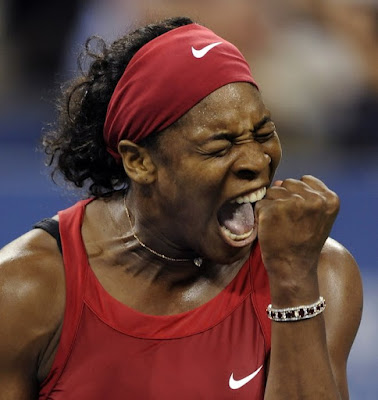 Black Tennis Pro's Serena Williams 2008 U.S. Open