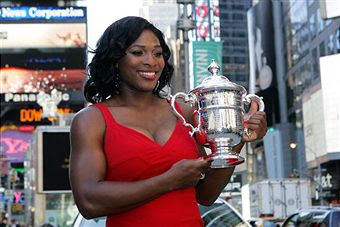 Black Tennis Pro's Serena Williams In Times Square