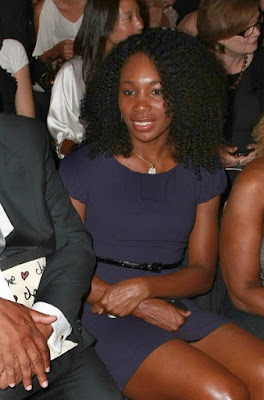 Black Tennis Pro's Venus Williams at Mercedes-Benz Fashion Week