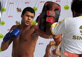 Black Tennis Pro's Jo-Wilfried Tsonga Thailand Open Kickboxing