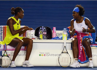 Venus and Serena Williams 2009 Australian Open Doubles Champions
