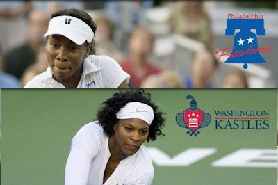 Black Tennis Pro's Venus and Serena Williams World Team Tennis