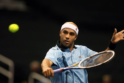 Black Tennis Pro's James Blake SAP Open Sam Querrey