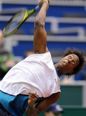 Black Tennis Pro's Gael Monfils ABN AMRON Tournament Julien Benneteau