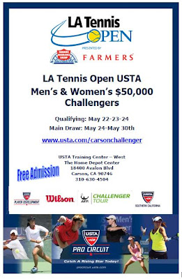 Black Tennis Pro's Los Angeles Open Flyer