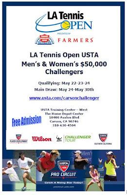Black Tennis Pro's Los Angeles Open Flyer