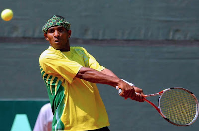 Black Tennis Pro's Damion Johnson Davis Cup