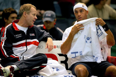 Black Tennis Pro's James Blake and Patrick McEnroe 2009 Davis Cup