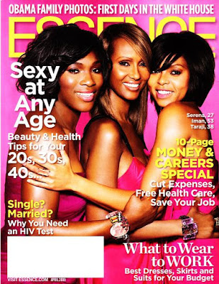 Black Tennis Pro's Serena Williams, Iman, Taraji P. Henson Cover Essence Magazine April Issue