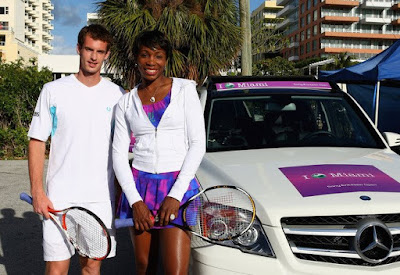 Black Tennis Pro's Venus Williams and Andy Murray Sony Ericsson Open