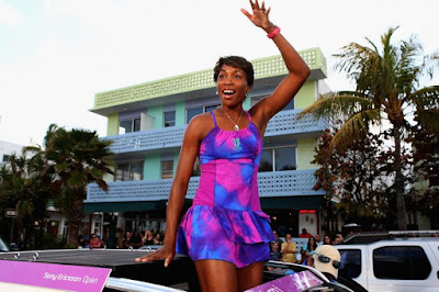 Black Tennis Pro's Venus Williams Sony Ericsson Open